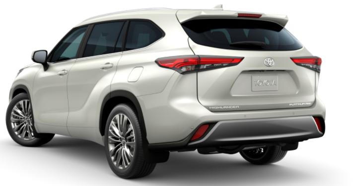Toyota Highlander Back Side